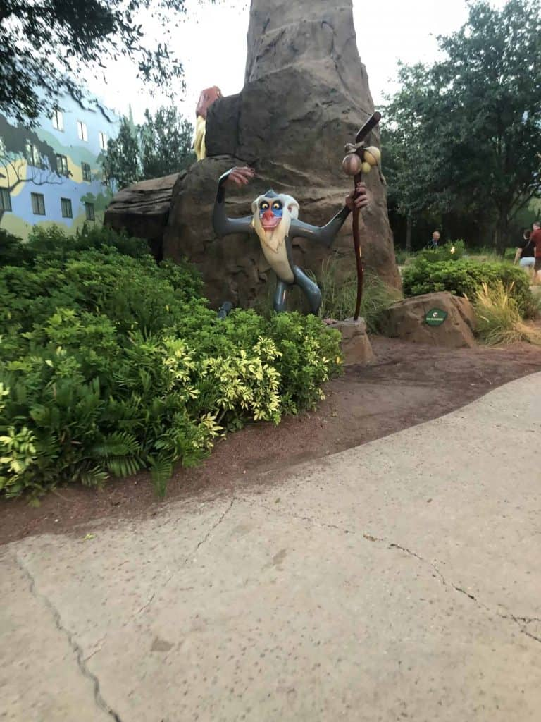 Statue of Rafiki from Lion King