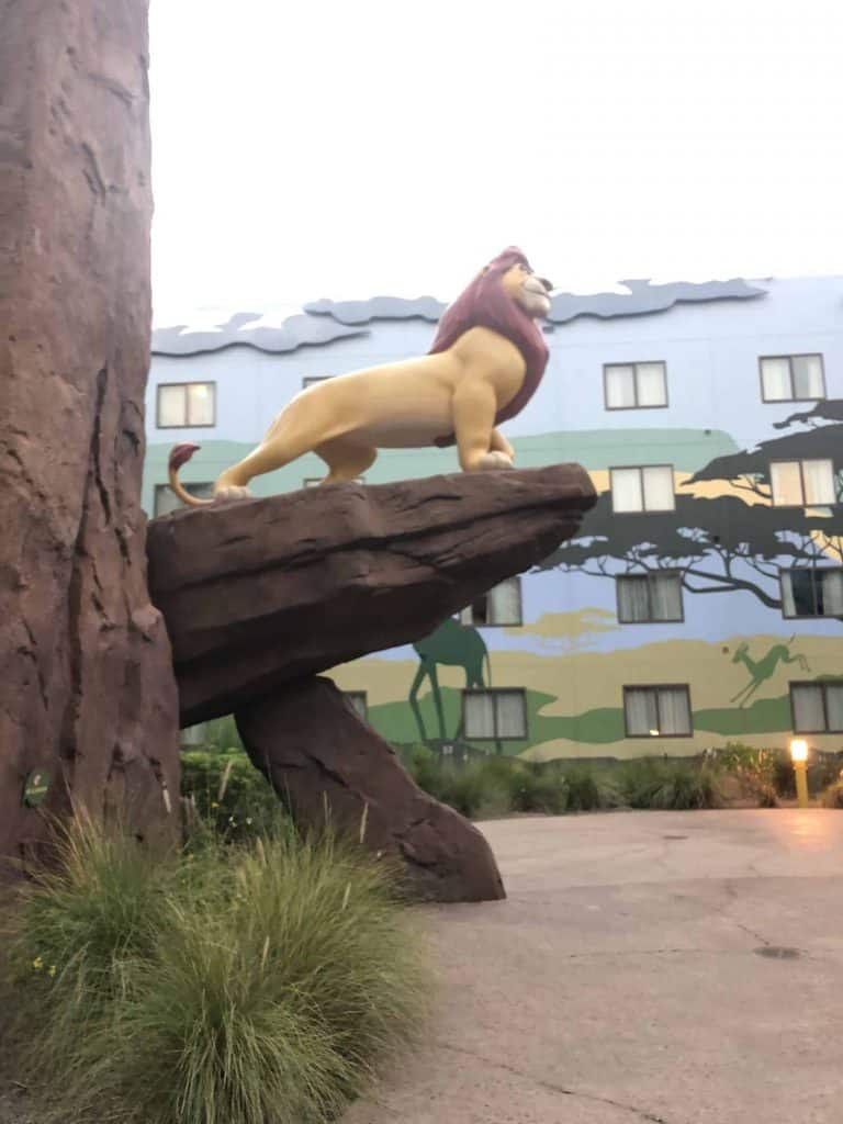 Art of Animation Lion King theming pride rock statue