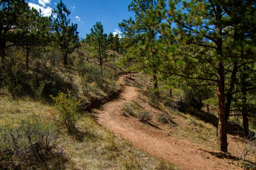Path along Curt Gowdy State Park in Cheyenne