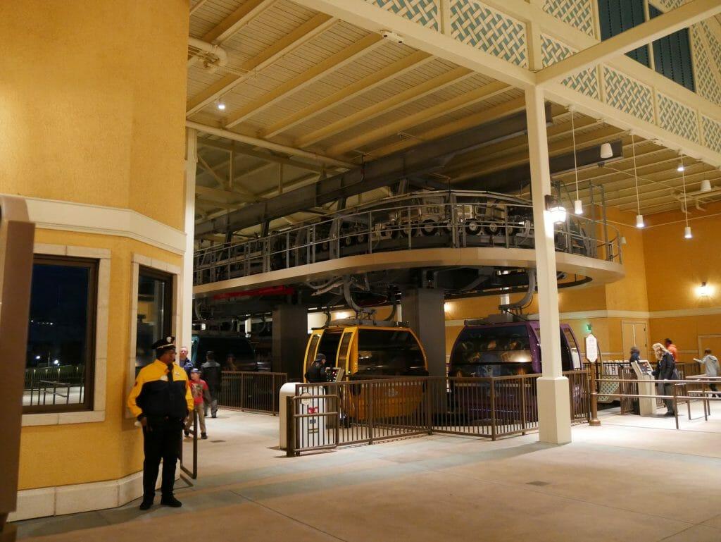Inside a Disney World Skyliner station