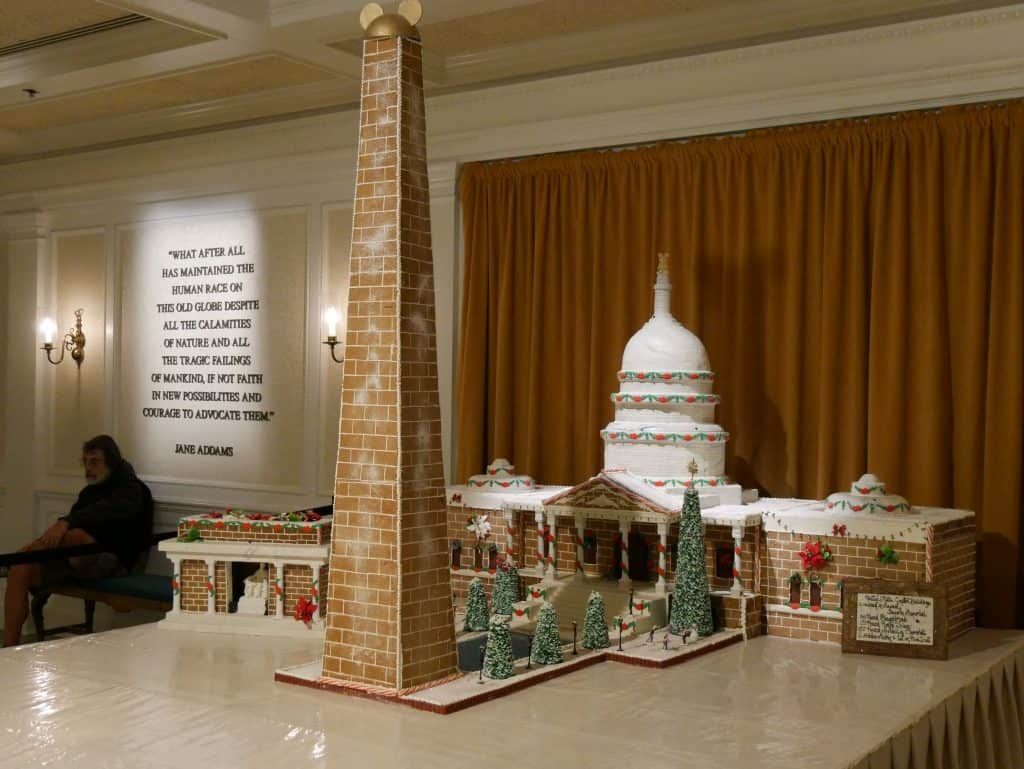 Gingerbread United States Capitol Building at Epcot, Disney World at Christmas