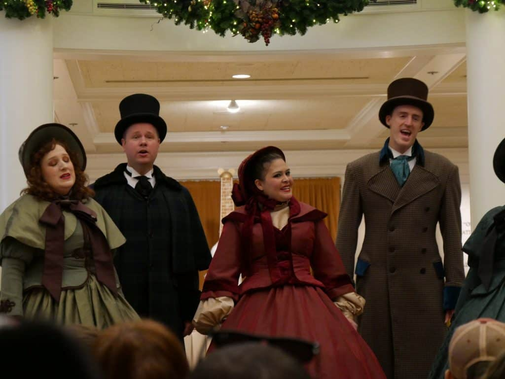 """American singers """"Voices of Liberty"""" at Epcot, Disney World at Christmas"""