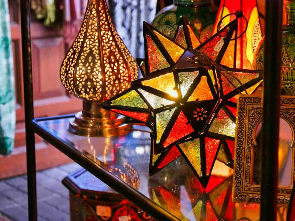Middle Eastern style decorations