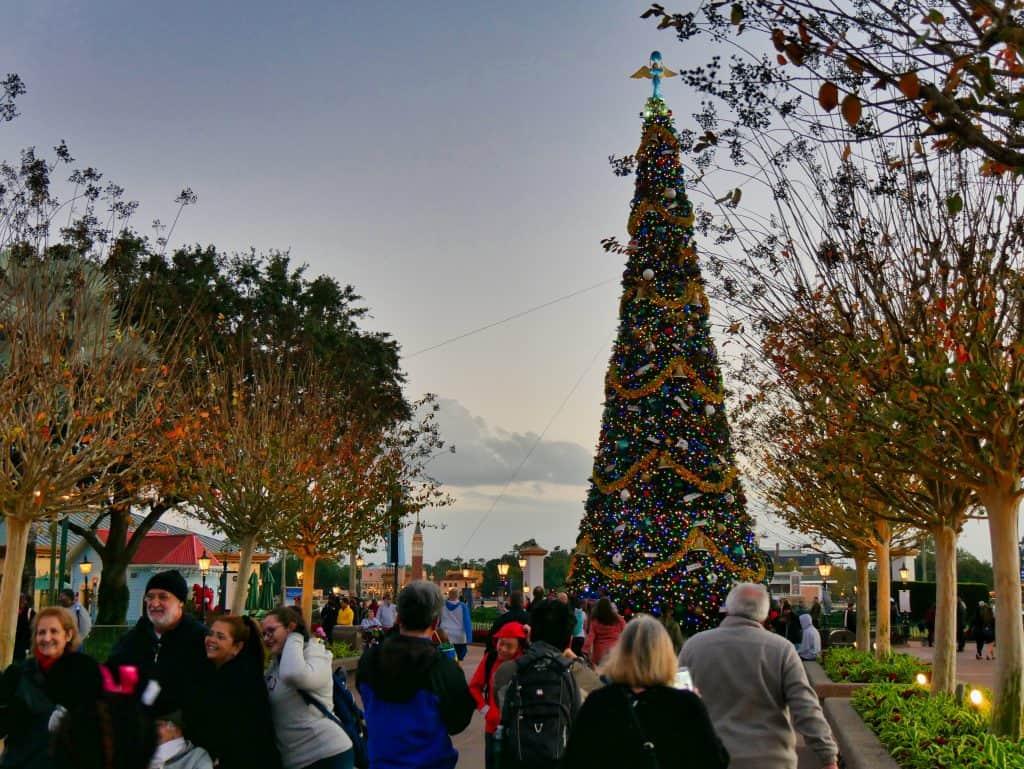 Large Christmas tree at Epcot