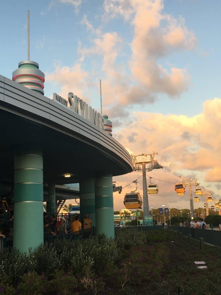 The Disney Skyliner sign at Hollywood Studios