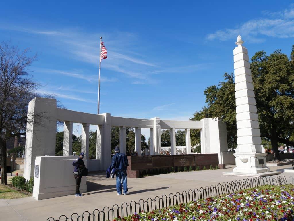 Memorial in Dealey Plaza Dallas, Texas