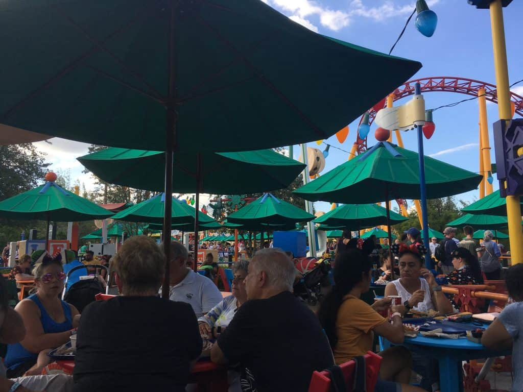 Seating at Woody's Lunchbox