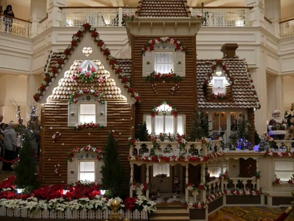 Disney Gingerbread House - A gingerbread house at the Grand Floridian Disney World resort at Christmas