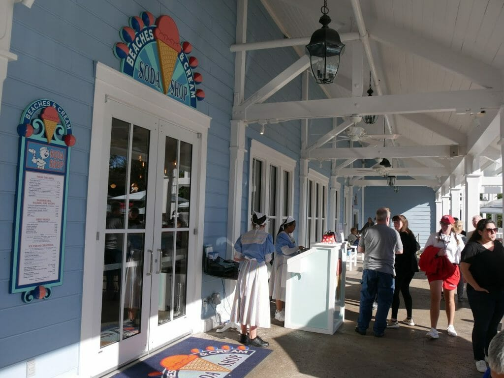 Outside Beaches and Cream entrance
