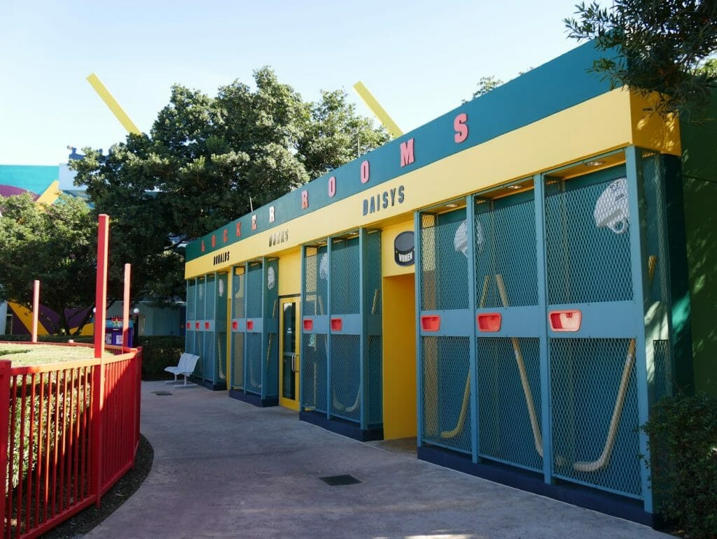 Disney All-Star Movies pool review changing area