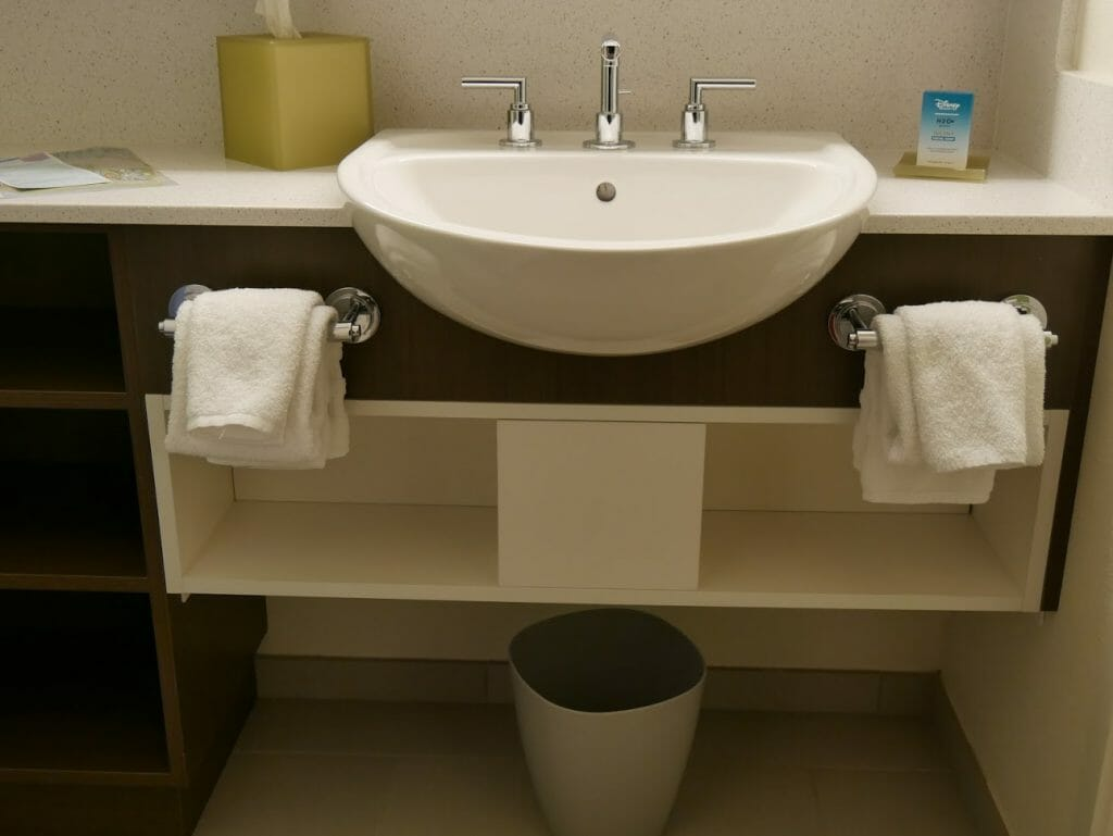 Disney All-Star movies bathroom sink area