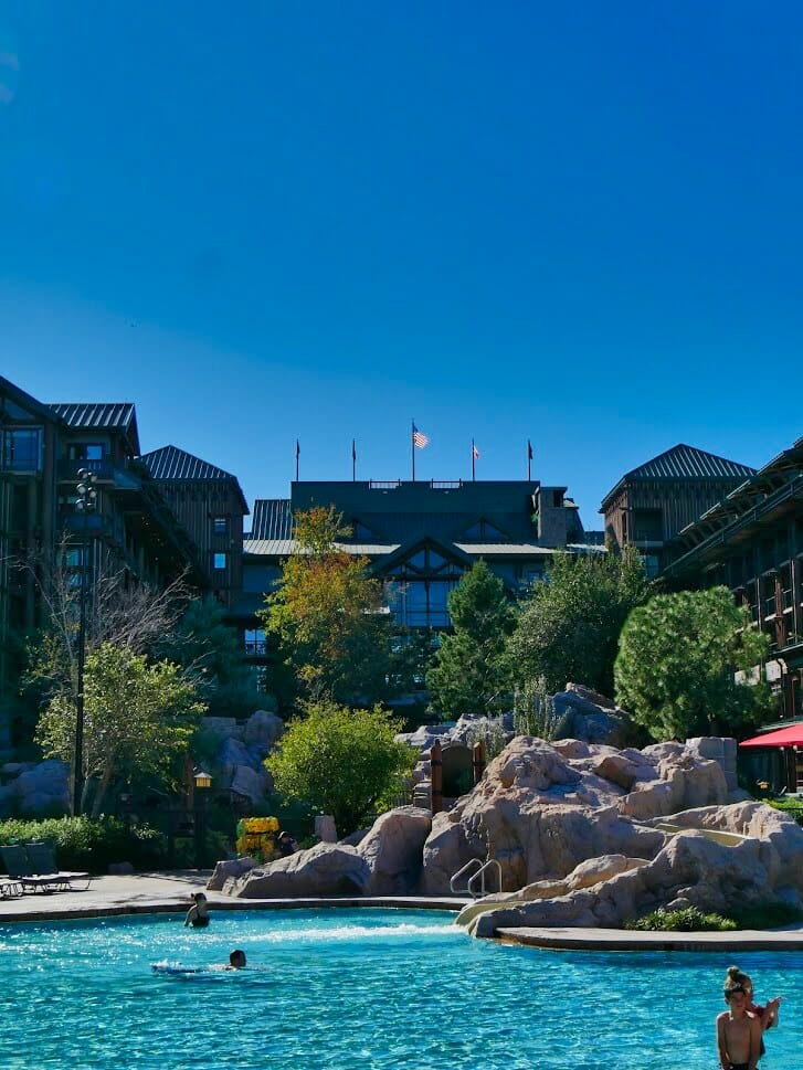 Wilderness Lodge pool and main building