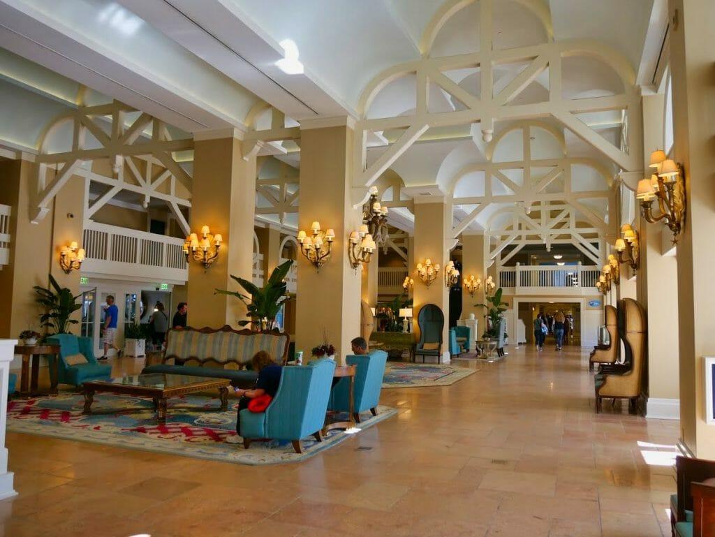 Inside of Disney Beach Club resort