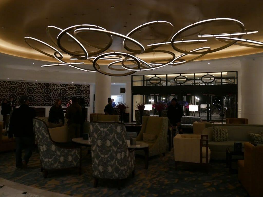 Inside of the lobby of Riviera hotel Disney World Orlando