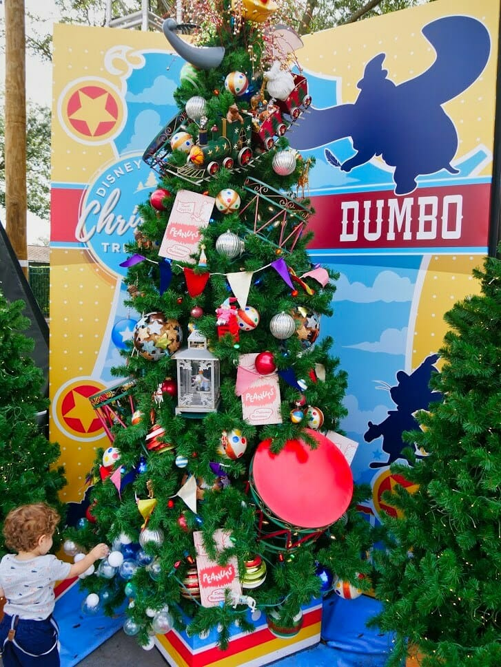A Dumbo Christmas tree with many Dumbo decorations