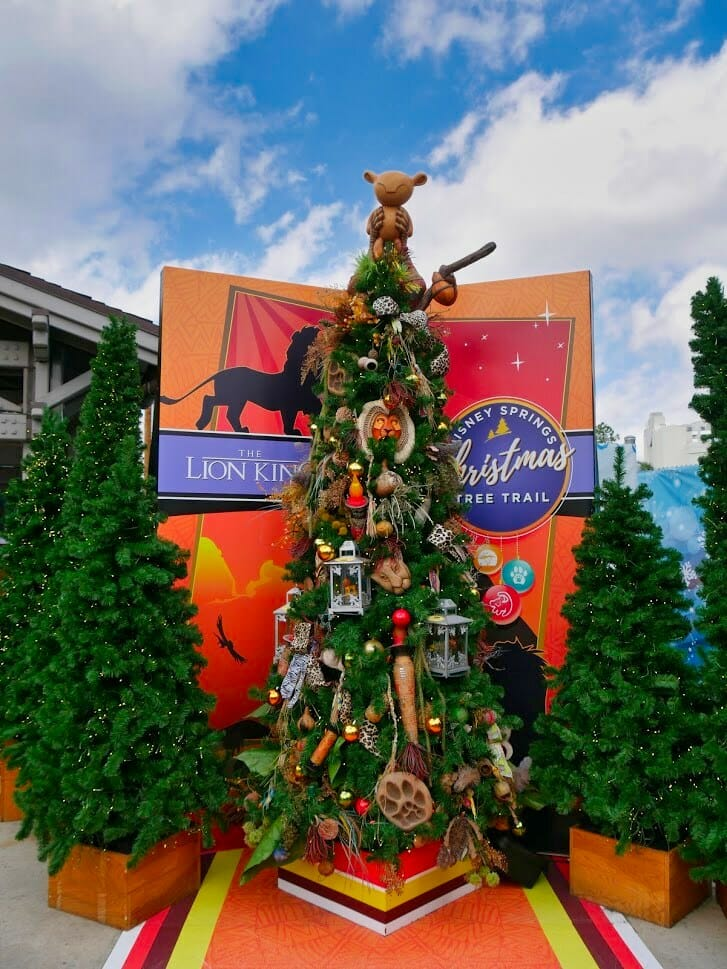 Lion King Christmas tree with Lion King decorations