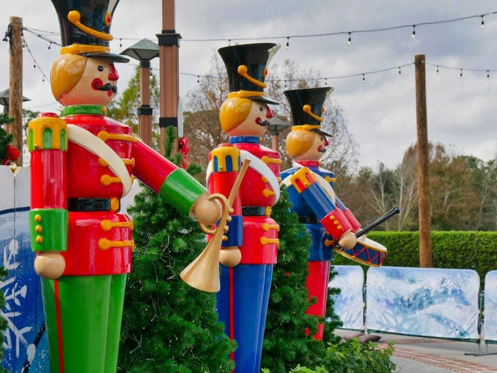 Large toy soldier statues