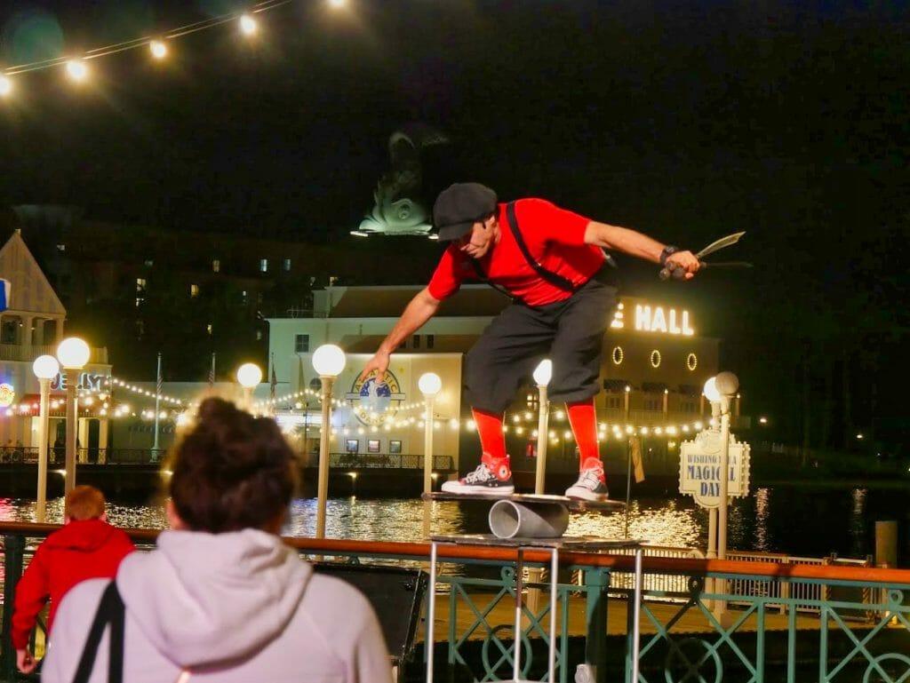 A balancing act at the Disney Boardwalk