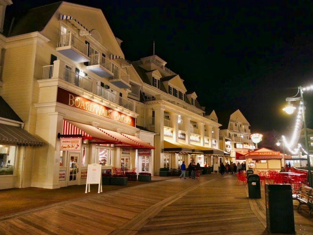 The Boardwalk at Disney with a bakery