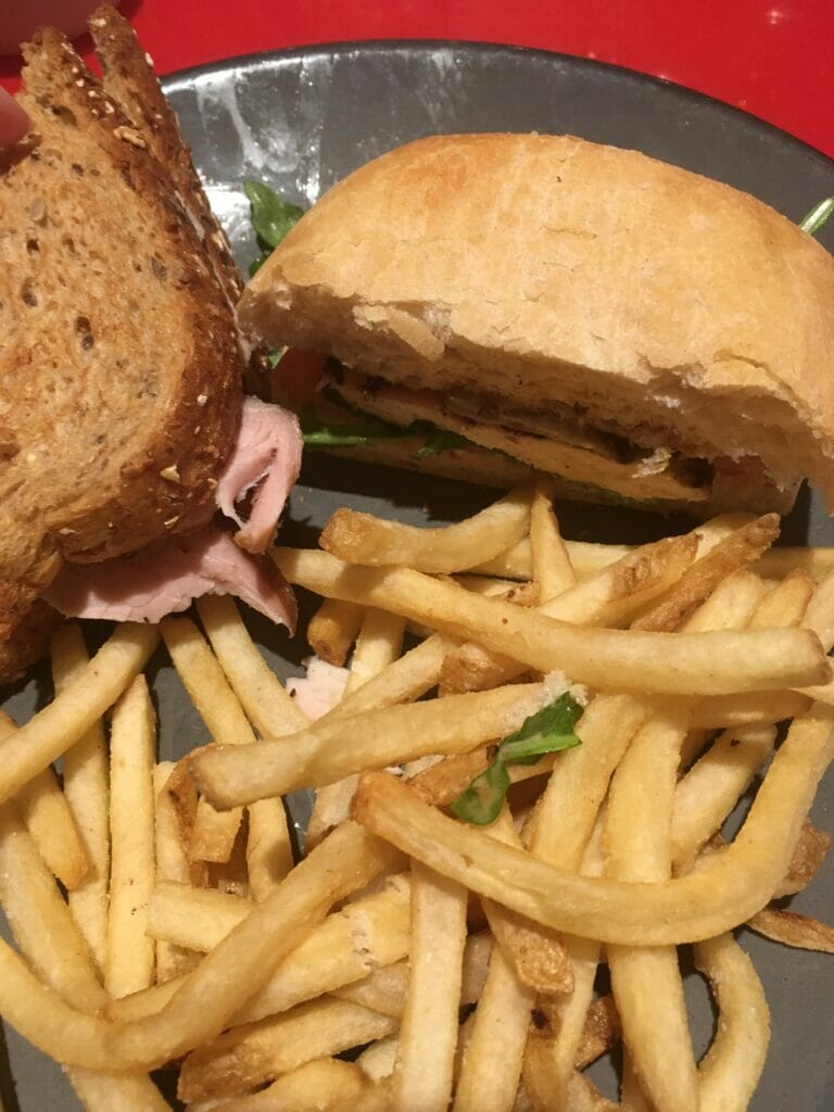 sandwich at whispering canyon cafe