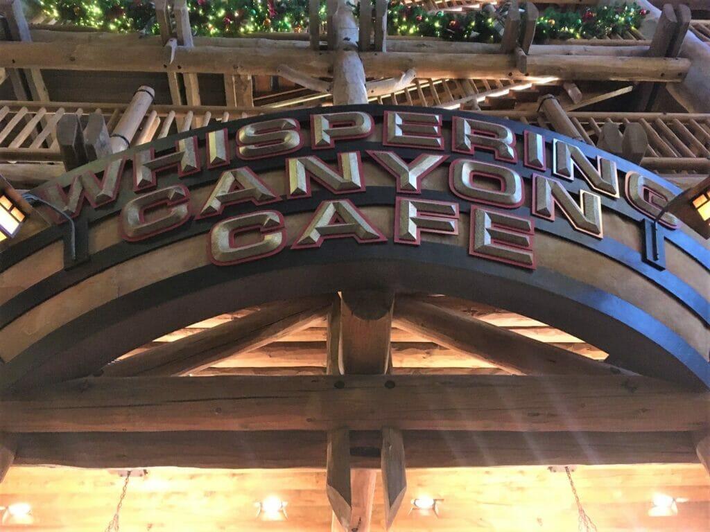 whispering canyon cafe sign