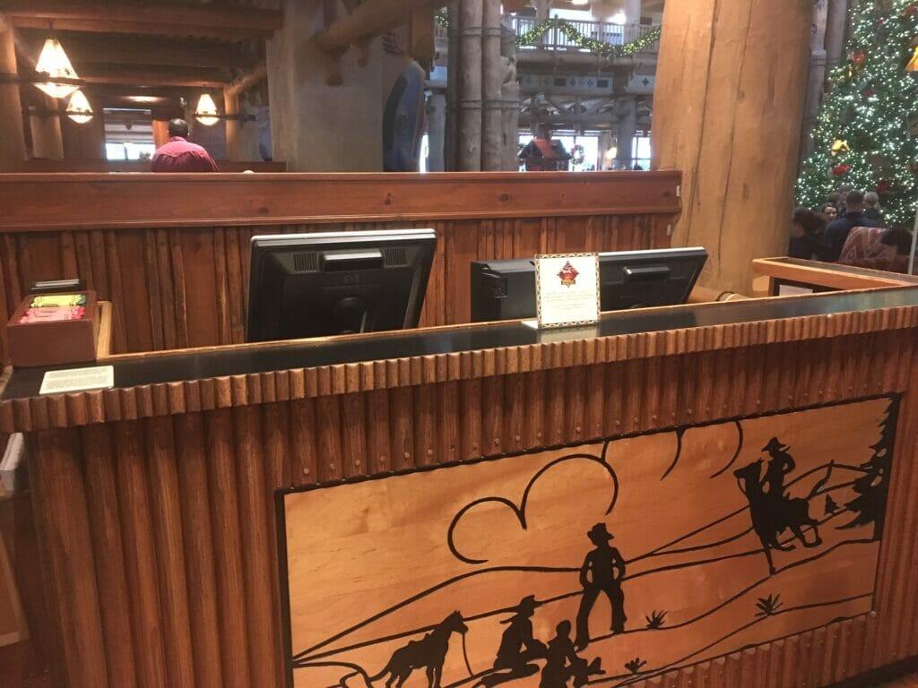 hostess table at whispering canyon cafe