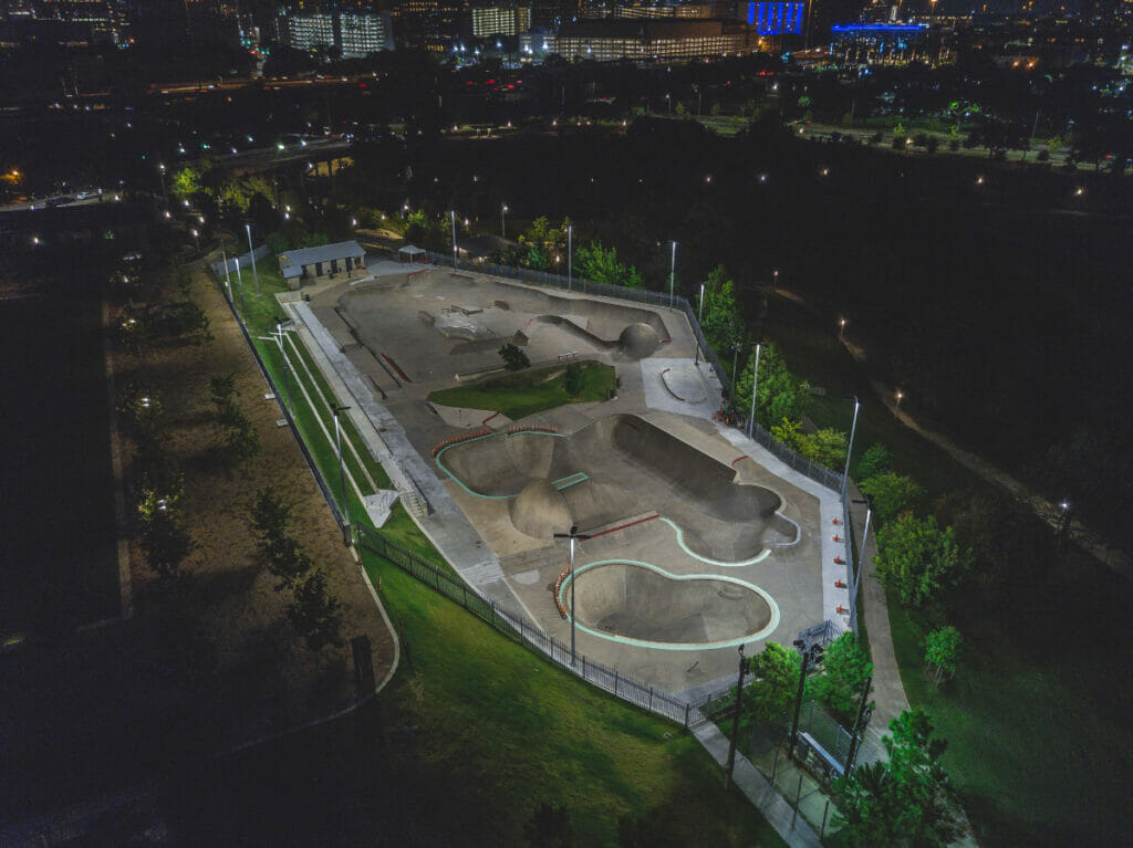 skate park from above