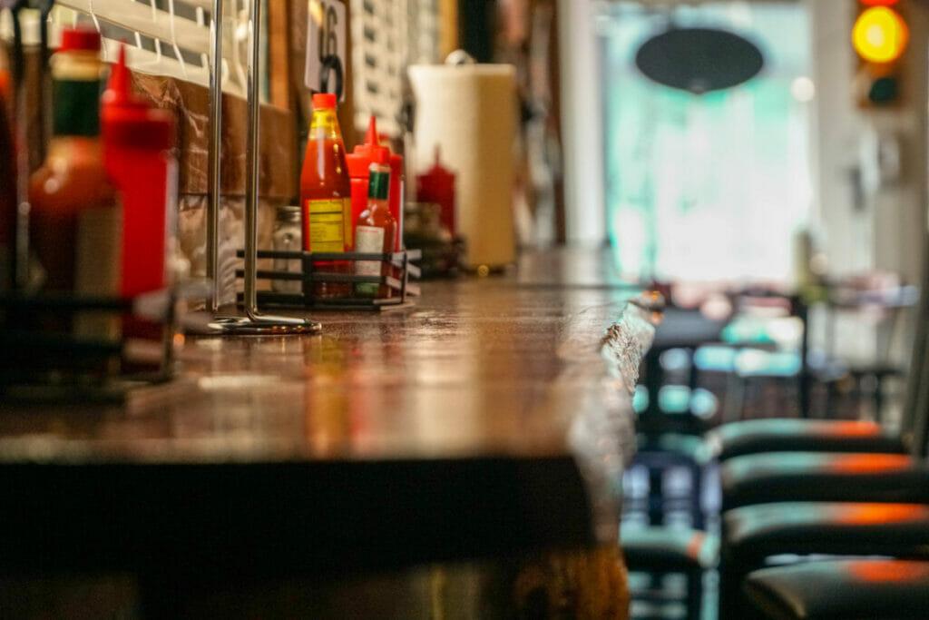 bar at a restaurant