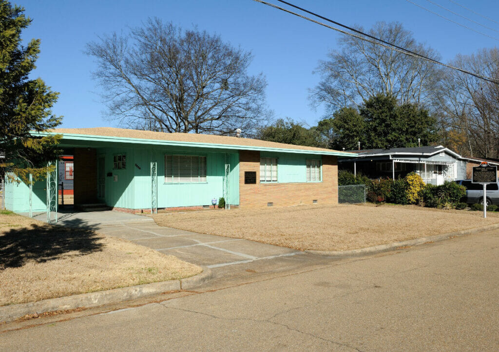 exterior of medger evers home