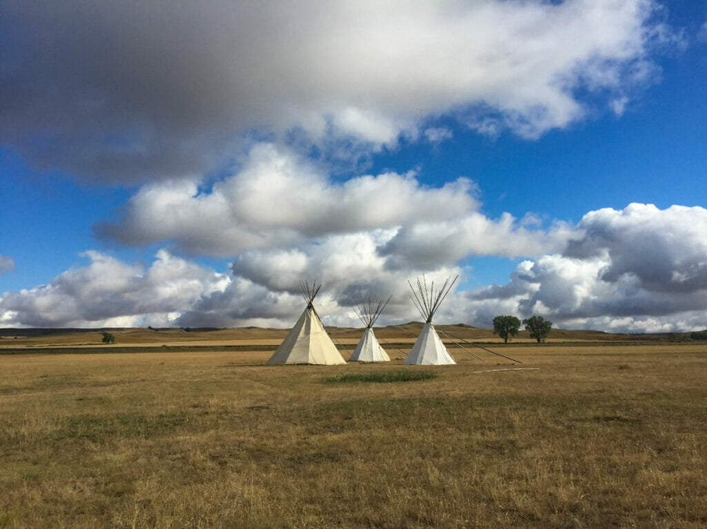 teepees at Fort Union Trading Post