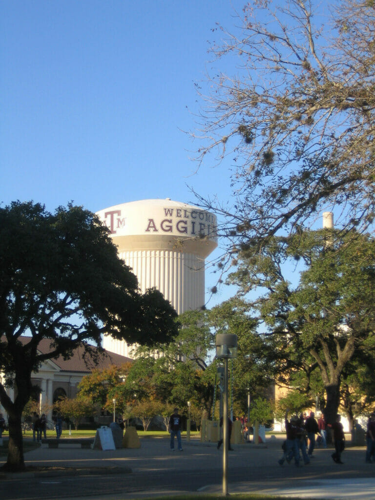 Aggie Tower in College Station Texas